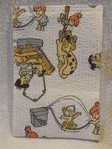 Flintstones 1983 Paper Dentist Bib w/Fred, Pebbles, Bamm-Bamm, Baby Puss... - $4.95