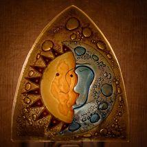 Fused Art Glass Sun & Moon Design Night Light Handmade in Ecuador image 7