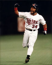 Kirby Puckett Twins Series HR Vintage 11x14 Color Baseball Memorabilia Photo - $14.95