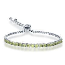 Women's Sterling Silver Peridot Adjustable Bolo Tennis Bracelet - $128.69