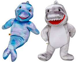 Build a Bear Toothy Shark Sea Dolphin Pals 16 in. Stuffed Plush Toys Pup... - $136.99