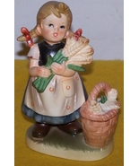Vintage  Figure Girl with Harvest Basket - $20.00
