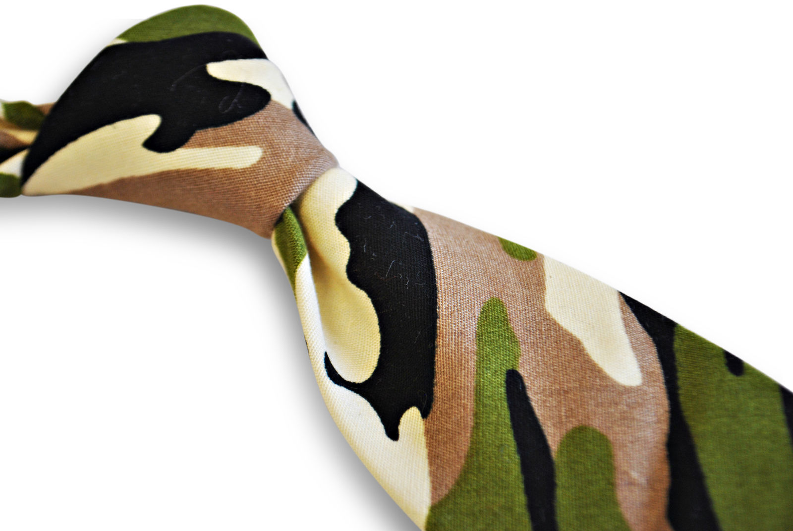 Frederick Thomas mens cotton/linen tie army military camouflage pattern