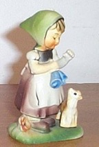 Vintage  Figure Girl With Pet Cat - $10.00
