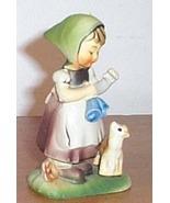 Vintage  Figure Girl With Pet Cat - €8,55 EUR