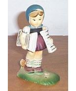 Vintage  Figure Girl Delvering News Paper - $10.00