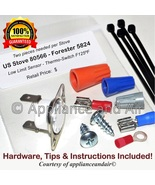 Two US Stove 80566 Proof of Fire CERAMIC Limit Switch F125 + Hardware, I... - $28.95