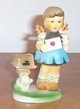 Vintage  Figure Girl Valentine Card Letter - $15.00