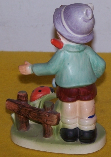 Vintage  Figure Large Boy with Water Can Made In Japan
