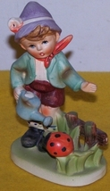 Vintage  Figure Large Boy with Water Can Made In Japan - $20.00