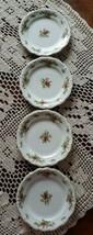"Johann Haviland ~ Moss Rose ~ Set of 4 ~ 6.25"" Dessert Plates ~ Bavaria Germany - $39.60"