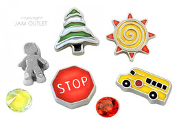 7 pc SCHOOL BUS DRIVER Floating Charms - fits A... - $11.83