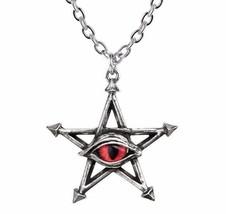 Red Curse Magick Pentagram Pendant Evil Red Snake Eye Amulet Alchemy Got... - $23.95