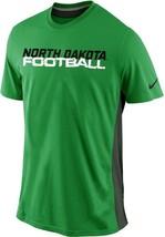 Mens Green Dri-Fit Nike University North Dakota Hawks Tee UND 35% Off $5... - $32.49