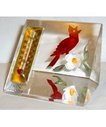 Vintage BIRCRAFT Red Cardinal & Thermometer Luc... - $45.00