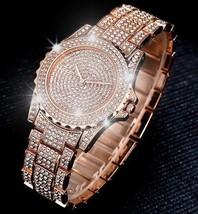 Luxury Look Bracelet Steel Watch Women Fashion Wristwatch Rose Gold Classic image 1