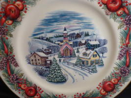 "Lenox Villages Around The World New England Hilltop 11""Collector Plate 2000 XMAS - $9.49"