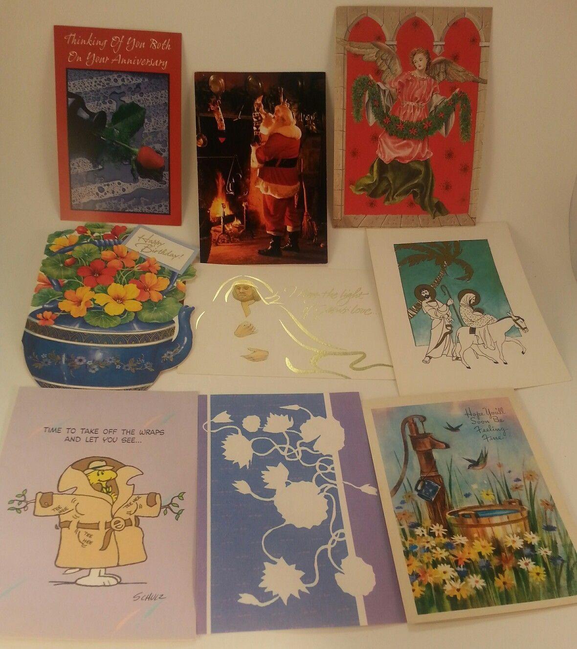 250 Used Greetings Cards Crafts Scrapbooking Hallmark American Greetings  1980s
