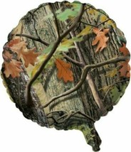 "Hunting Camo Foil Balloon 18"" Birthday Party Woods Bachelor Nature - $3.99"