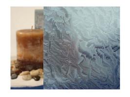 "Clear Rippled Glass, Blue Static Cling Window Film, 36"" Wide x 6.5 ft - $59.90"