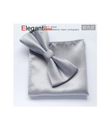 Men's Elegant Party/Business Bow Tie Set Pocket Square - £11.63 GBP