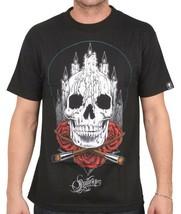 Sullen Art Collective Noir Hommes Autel Crâne Roses Encré Tatouage Goth Pull NW image 2