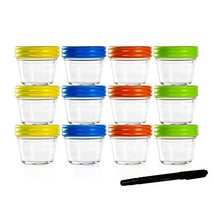 Food Storage Containers-Baby Food Storage-Glass Jars with Leakproof & Ai... - $34.94