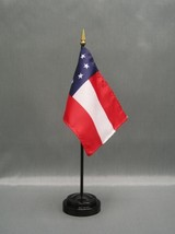 "STARS & BARS 4X6"" TABLE TOP FLAG W/ BASE NEW DESK TOP HANDHELD STICK FLAG - $4.95"