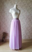 2020 FULL Long Tulle Skirt Plus Size Tulle Skirt Elastic Waist Lilac Tulle Skirt image 5