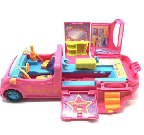Primary image for Polly Pocket Pollywood Pink Limo-Scene Car 2005 Mattel AWESOME!