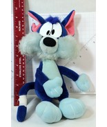Tiny Toons Furrball Furball Blue Cat Stuffed Plush Toy by Applause Vinta... - $24.74