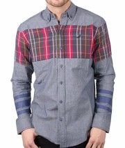 Staple Men's Indigo Stormking Woven Button Up Shirt 1510W2961 NWT