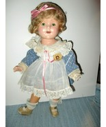"""1935 ORIGINAL IDEAL COMPOSITION SHIRLEY TEMPLE THE LITTLE REBEL 18"""" DOLL - $299.00"""