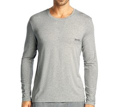 NEW MEN'S HUGO BOSS MODAL LONG SLEEVE PAJAMA TOP LOUNGEWEAR SHIRT GRAY 50188508