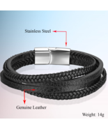 Braided Rope Magnetic Clasp Male Bangles - Anniversary Gifts - Jewelry B... - $19.99