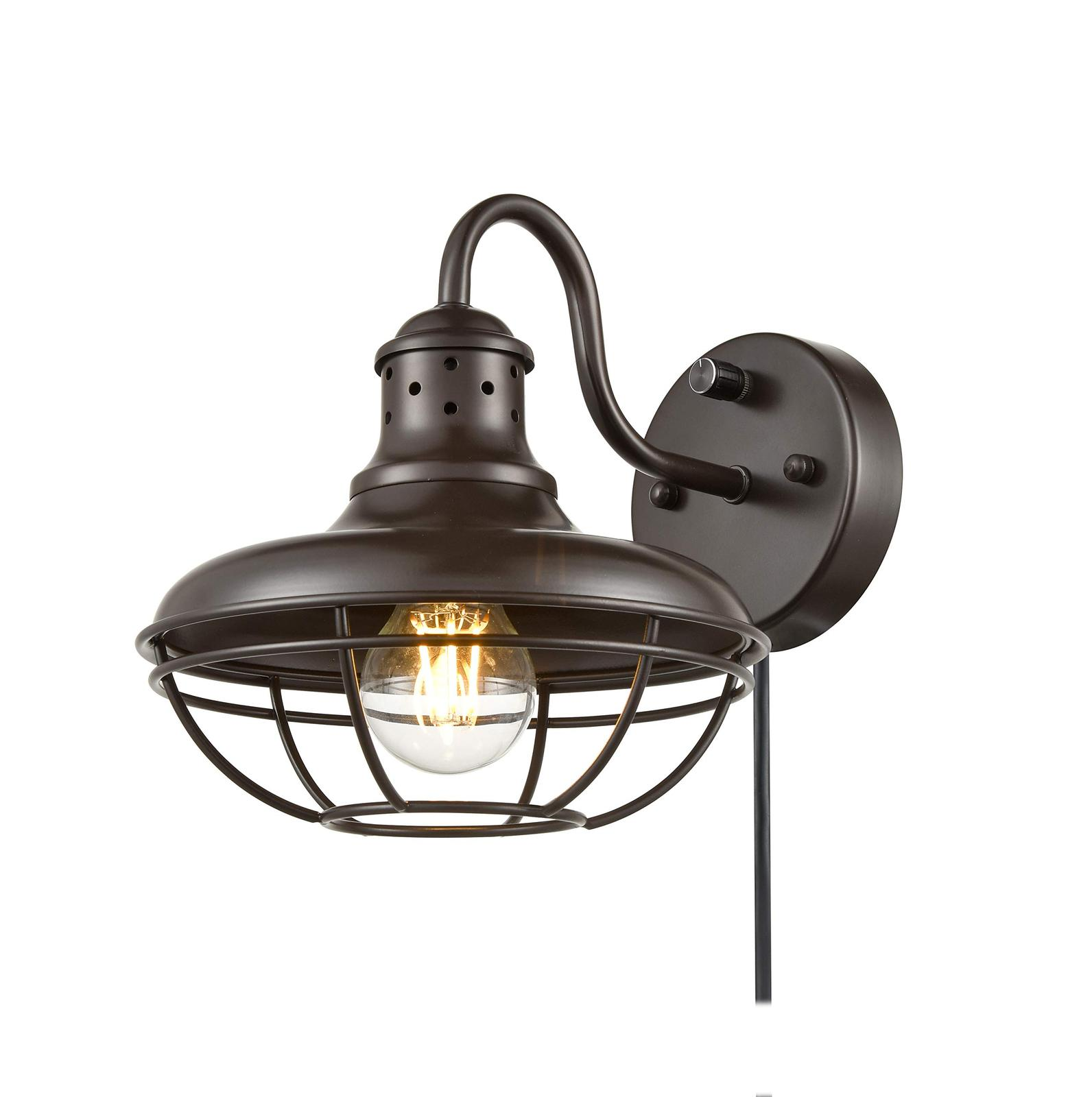 Dazhuan Industrial Plug-in Wall Sconce Light with On/Off ...