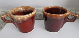 Vintage Hull Brown Drip Coffee Mugs - Set of 2 - $14.99