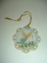 Fenton Glass Hand Painted Artist Signed 1995 Angel Shepherds Ornament - $65.00