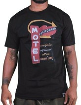 Dissizit! Mens Black or White Motel California T-Shirt Slick Eagles LA NWT