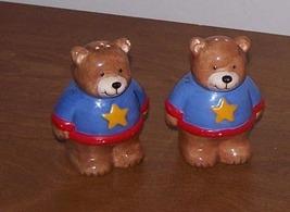 Salt And Pepper Shakers Brown Bears - $10.00