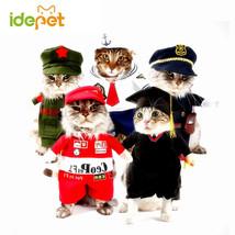 Cat Costumes Funny Pet Clothes Nurse Policeman Suit Fashion Kittens Clot... - $9.45+