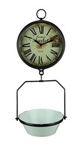 Farmers Market Clock with Hanging Fruit Basket - Vintage Scale Design - $94.40