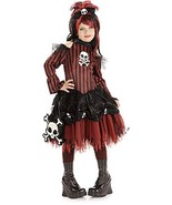 Rockin' Skulls Punky Pirate Red & Black Stripes Girls Costume by Rubies - $33.10 CAD