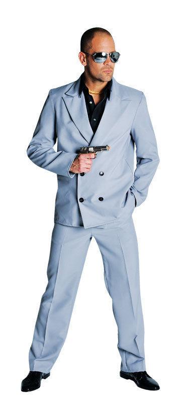 """80's Deluxe Miami Vice , """"Tubbs"""" - Grey  Suit"""