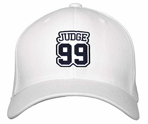 Aaron Judge #99 Hat - New York - Adjustable Unisex White Baseball Cap