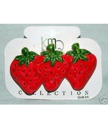 3 Strawberrys Hair Clamp - $2.50