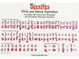"Sizzix Sizzlits ""Girls are Weird"" Alphabet with Shadows Die Set image 4"