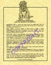 Neapolitan Mastiff Standard - $20.50