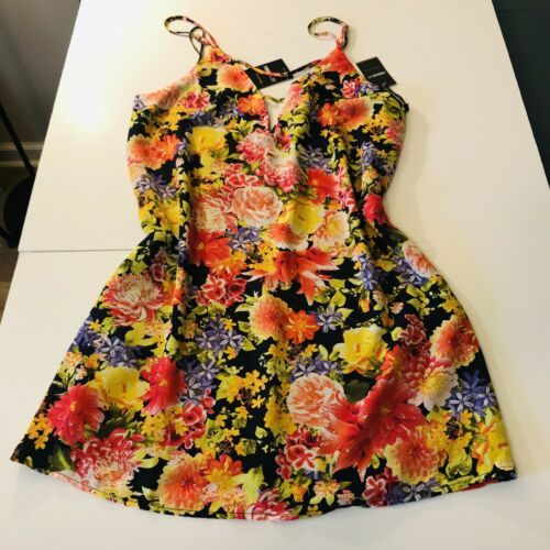 NWT Forever 21 Yellow and red floral cami maxi dress