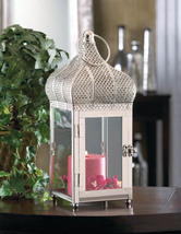 Large Moroccan Silver Dome Lantern - $35.00
